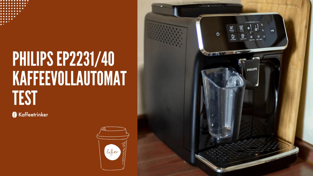 Philips EP2231/40 kaffeevollautomat test